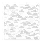 Hambly Studios - Screen Prints - 12 x 12 Overlay Transparency - Rain Clouds - Metallic Silver