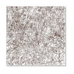 Hambly Studios - Screen Prints - 12 x 12 Overlay Transparency - Streets of Paris - Brown