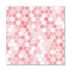 Hambly Studios - Screen Prints - 12 x 12 Overlay Transparency - Honeycomb - Coral