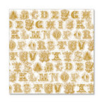Hambly Studios - Screen Prints - 12 x 12 Overlay Transparency - Printer's Type - Metallic Gold