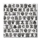 Hambly Studios - Screen Prints - 12 x 12 Overlay Transparency - Printer's Type - Black