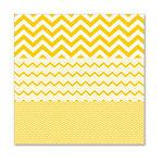 Hambly Studios - Screen Prints - 12 x 12 Overlay Transparency - Herringbone - Chevron Mash Up - Yellow