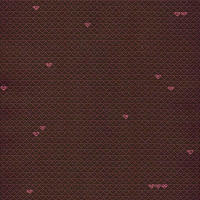 Hambly Studios - Screen Prints - 12 x 12 Paper - Little Hearts - Pink on Bronze