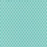 Hambly Studios - Screen Prints - 12 x 12 Paper - Lattice - White on Lagoon Blue