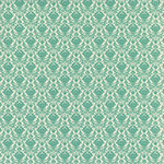 Hambly Studios - Screen Prints - 12 x 12 Paper - Mini Brocade - Antique Teal Blue on White Gold