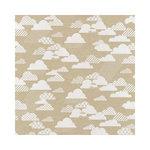 Hambly Studios - Screen Prints - 12 x 12 Paper - Rain Clouds - Metallic Silver on Kraft