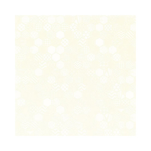 Hambly Studios - Screen Prints - 12 x 12 Paper - Honeycomb - White on White Gold