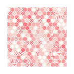Hambly Studios - Screen Prints - 12 x 12 Paper - Honeycomb - Coral on White Gold