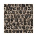 Hambly Studios - Screen Prints - 12 x 12 Paper - Printer's Type - Black on Kraft