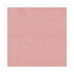 Hambly Studios - Screen Prints - 12 x 12 Paper - Diagonal Alley - Coral on Silver