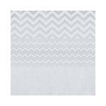 Hambly Studios - Screen Prints - 12 x 12 Paper - Chevron Mash Up - White on Silver