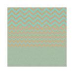 Hambly Studios - Screen Prints - 12 x 12 Paper - Chevron Mash Up - Antique Teal on Kraft