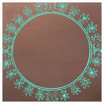 Hambly Studios - Paper - Screen Prints - Big Vintage Circle - Blue on Bronze