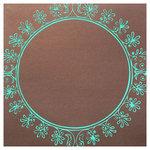 Hambly Studios - Paper - Screen Prints - Big Vintage Circle - Blue on Bronze