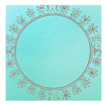 Hambly Studios - Paper - Screen Prints - Big Vintage Circle - Copper on Blue