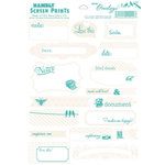 Hambly Studios - Mini Overlays - Journal Tags - Antique White and Antique Teal
