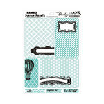 Hambly Studios - Mini Overlays - Journal Cards - Antique Teal Blue and Black