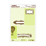 Hambly Studios - Mini Overlays - Journal Cards - Antique Lime and Brown