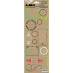 Hambly Studios - Screen Prints - Kraft Cardstock Stickers - Vintage Journaling Bits, CLEARANCE