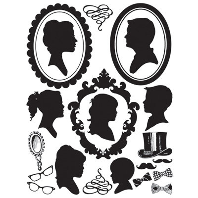 Hambly Studios - Screen Prints - Hand Silk Screened Rub Ons - Family Portraits - Black
