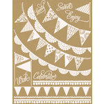 Hambly Studios - Screen Prints - Hand Silk Screened Rub Ons - Banners and Pennants - Antique White