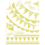 Hambly Studios - Screen Prints - Hand Silk Screened Rub Ons - Banners and Pennants - Antique Lime