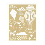 Hambly Studios - Screen Prints - Hand Silk Screened Rub Ons - Up in the Air - White