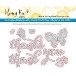 Honey Bee Stamps - Honey Cuts - Steel Craft Dies - Thanks
