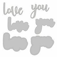 Honey Bee Stamps - Honey Cuts - Steel Craft Dies - Love You