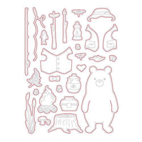 Honey Bee Stamps - Honey Cuts - Steel Craft Dies - Bill the Bear