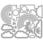 Honey Bee Stamps - Honey Cuts - Steel Craft Dies - Rainbow Wishes
