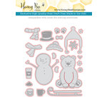 Honey Bee Stamps - Honey Cuts - Steel Craft Dies - Flakey Friends