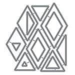 Honey Bee Stamps - Honey Cuts - Steel Craft Dies - Diamond Patterns