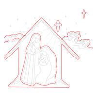 Honey Bee Stamps - Christmas - Honey Cuts - Steel Craft Dies - Christ Is Born