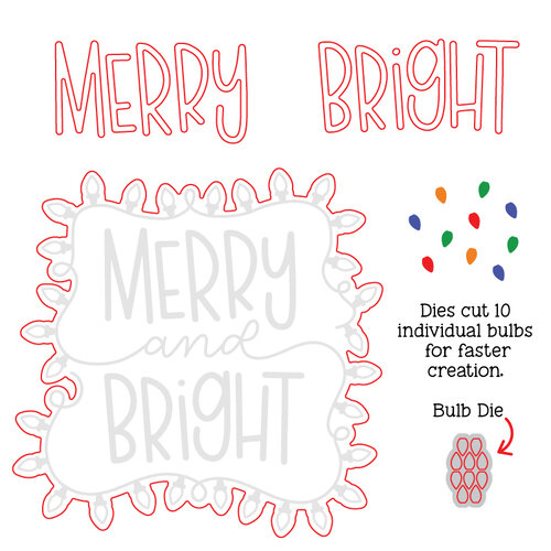 Honey Bee Stamps - Christmas - Honey Cuts - Steel Craft Dies - Merry Lights