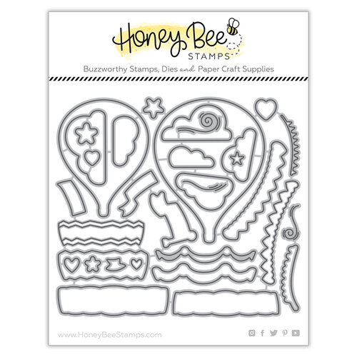 Honey Bee Stamps - Bee Mine Collection - Honey Cuts - Steel Craft Dies - Up Up and Away