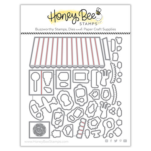 Honey Bee Stamps - Bee Mine Collection - Honey Cuts - Steel Craft Dies - Treat Shop Add-On