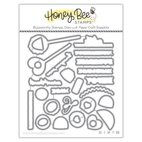 Honey Bee Stamps - Bee Mine Collection - Honey Cuts - Steel Craft Dies - Sweet Treats