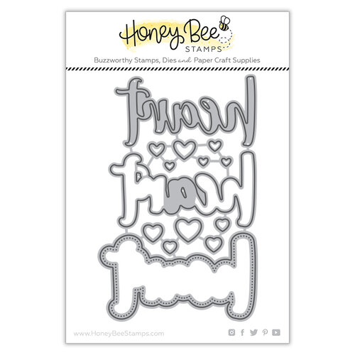 Honey Bee Stamps - Bee Mine Collection - Honey Cuts - Steel Craft Dies - Heart