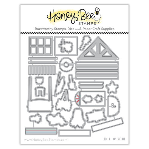 Honey Bee Stamps - Honey Cuts - Steel Craft Dies - Farmhouse Add On