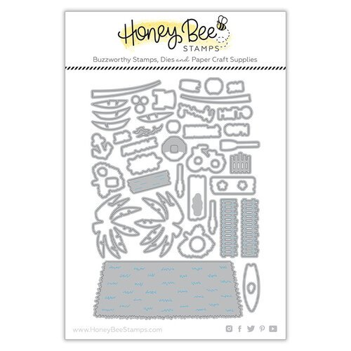 Honey Bee Stamps - Paradise Collection - Dies - Beach House Add-on