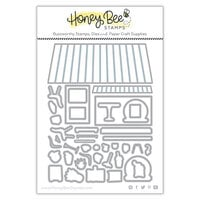 Honey Bee Stamps - Dies - Honey Cuts - Coffee Shop House Builder Add-On