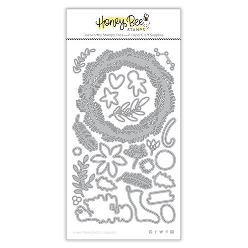 Honey Bee Stamps - Dies - Country Christmas Wreath