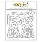 Honey Bee Stamps - Love Letters Collection - Dies - Honey Cuts - Honey Bunnies