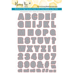 Honey Bee Stamps Honey Cuts Color Me Alpha Steel Craft Dies