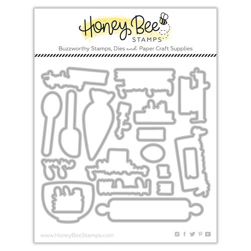 Honey Bee Stamps - Let's Celebrate Collection - Dies - Honey Cuts - Baked With Love