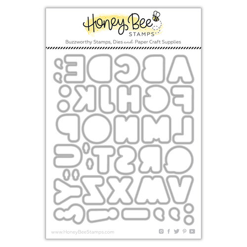 Honey Bee Stamps - Let's Celebrate Collection - Honey Cuts - Steel Craft Dies - Sugar Cookie Alphabet