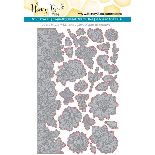 Honey Bee Stamps - Honey Cuts - Steel Craft Dies - Zen Floral
