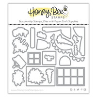 Honey Bee Stamps - Summer Stems Collection - Dies - Honey Cuts - She Shed Barn Add-On