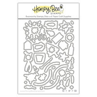 Honey Bee Stamps - Vintage Holiday Collection - Honey Cuts - Steel Craft Dies - Riding By - Holiday Style